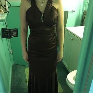 Brown David's Bridal Dress!